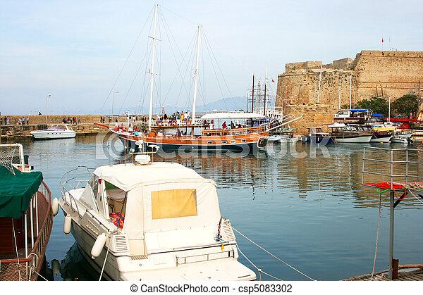 Kyrenia old port - csp5083302