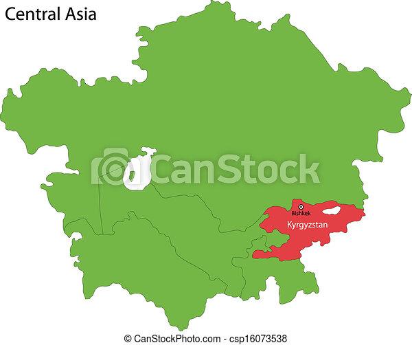 Kyrgyzstan map location of kyrgyzstan on central asia kyrgyzstan map csp16073538 gumiabroncs Choice Image