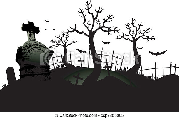 kyrkogård, bakgrund - csp7288805