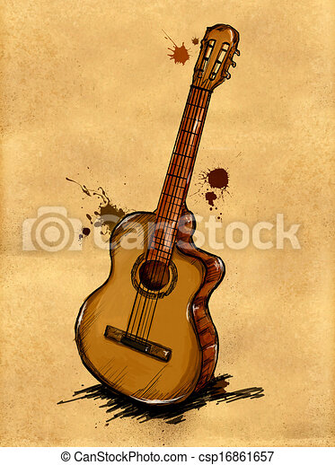 Kytara Podoba Malba Podoba Kytara Hudba Graficke Pozadi Malba