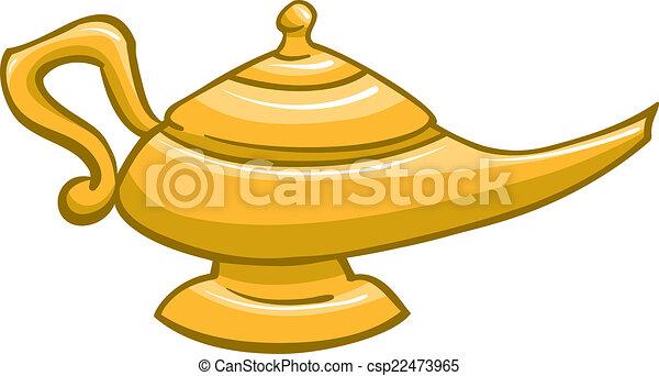 lámpara Una de genioUna ilustración de una de lámpara fb6vYy7g