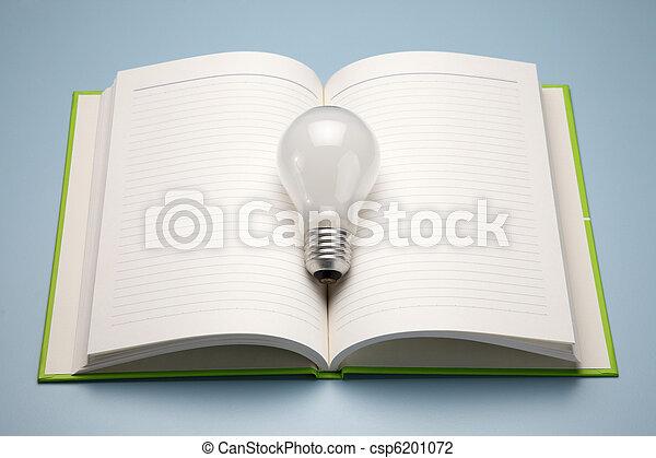 Un libro y una lámpara - csp6201072