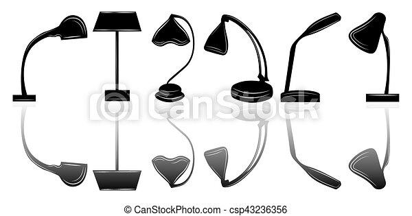La lámpara de la mesa - csp43236356