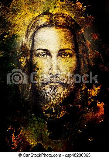 Lápices, ojo, structure., color, vendimia, jesús, papel,... imagen ...