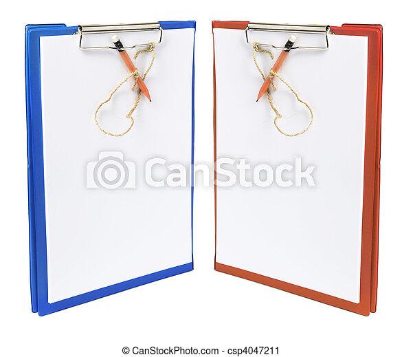 Clipboards con lápices - csp4047211