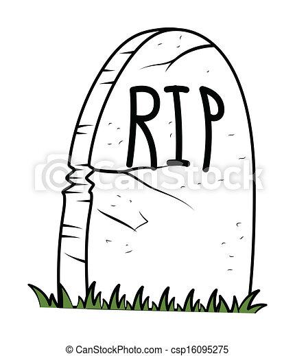 lápida, vector, halloween - csp16095275
