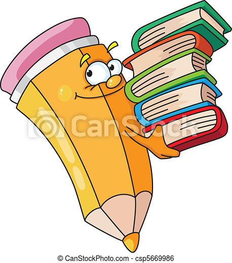 lápis, bookish - csp5669986