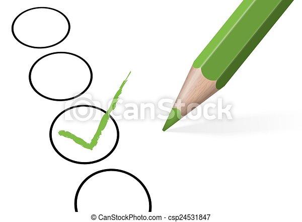 lápis, colorido, crucifixos, /, eleição, cheque - csp24531847