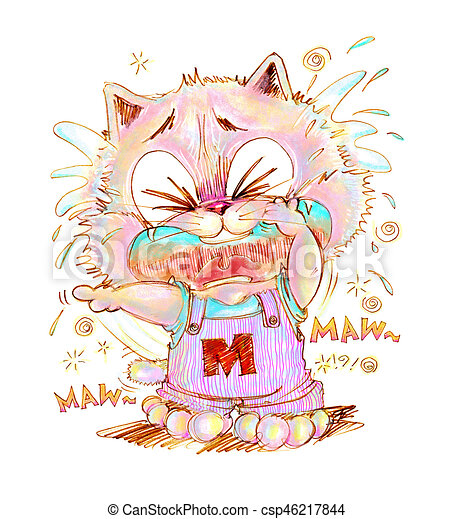 Lapis Cor Chorando Apontar Gato Cute Apontar Cor Sue Algum