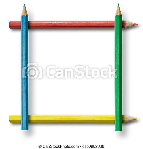 lápis, quadro - csp0982038