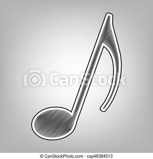 Señal De Nota Musical Vector Imitación De Dibujos Del