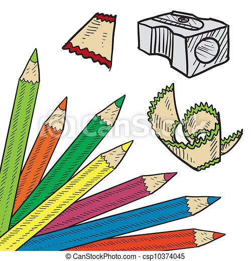 Un dibujo de la esquina de color - csp10374045