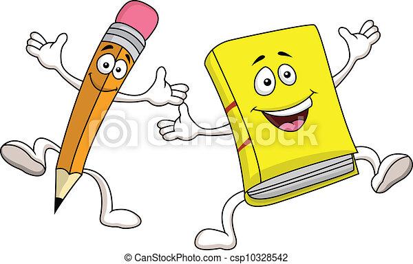 Lápices y dibujos animados - csp10328542