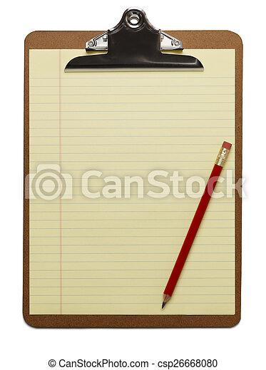 En blanco con lápiz - csp26668080