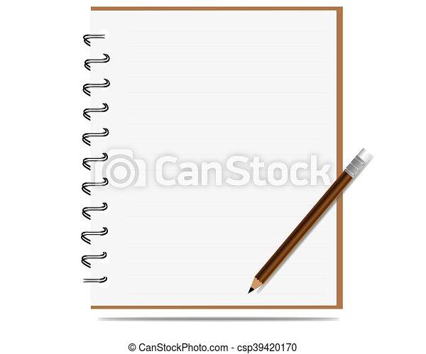 Notabook con vector lápiz - csp39420170