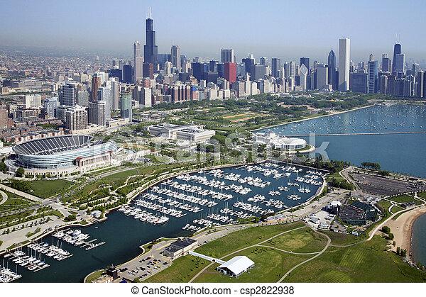 láthatár, chicago - csp2822938