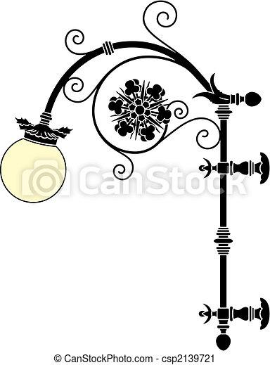 lâmpada, rua - csp2139721