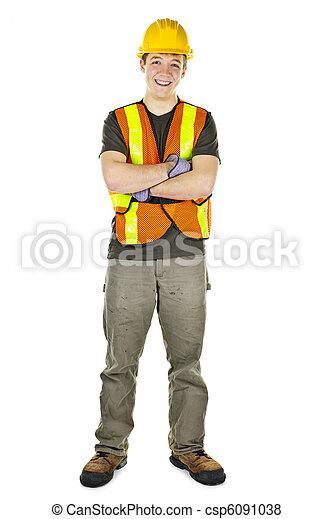 Bauarbeiter lächeln - csp6091038