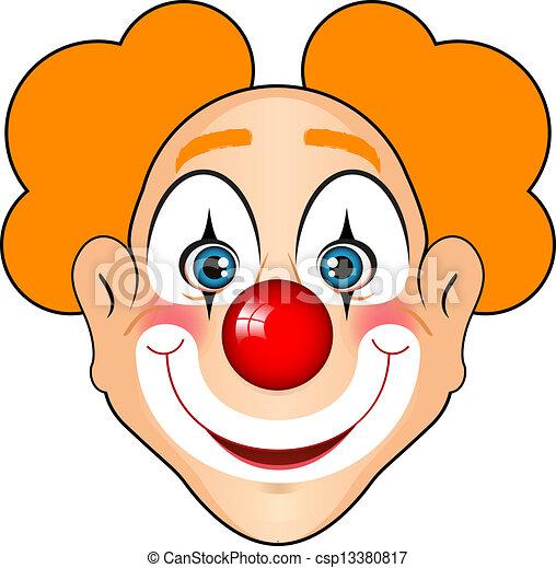 lächeln, clown - csp13380817