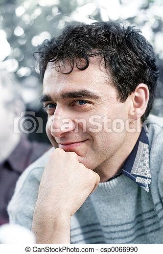 lächeln, fälliger mann - csp0066990