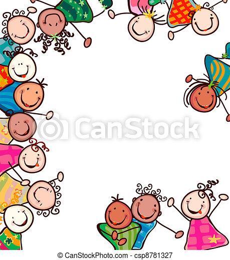 Kinder lächeln - csp8781327