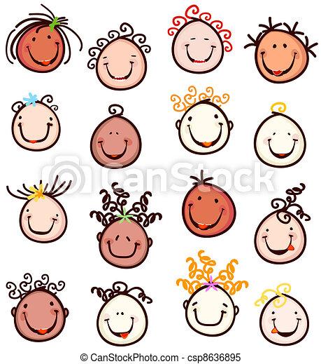 lächeln, kinder - csp8636895