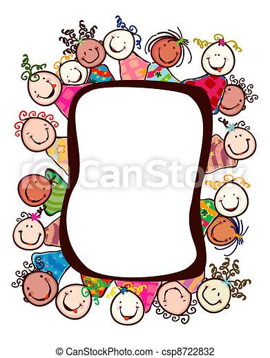 Kinder lächeln - csp8722832