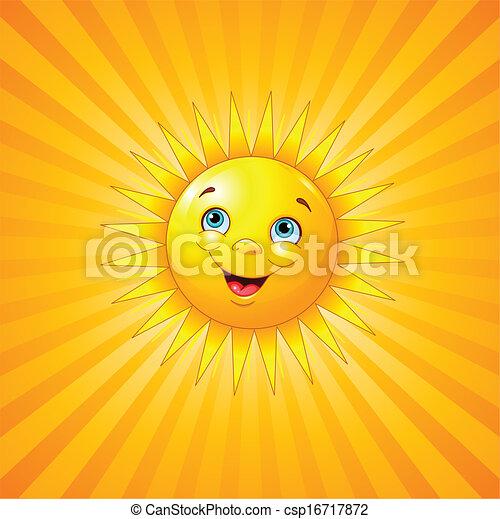 Lächelnde Sonne - csp16717872