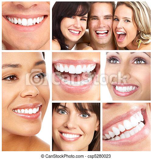 lächelt, z�hne - csp5280023