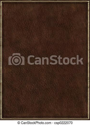 läder, bokpärm - csp0222070