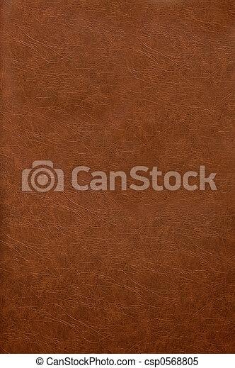 läder, bokpärm, röd - csp0568805