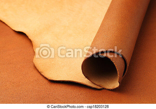 läder, brun - csp18203128