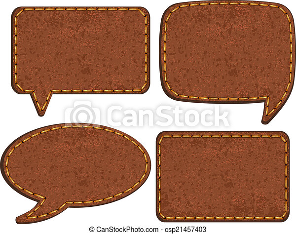 läder, vektor, sätta, jeans, labels. - csp21457403