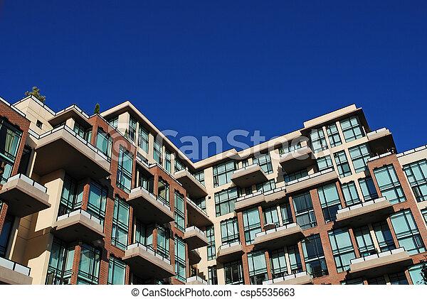 lägenhet, nymodig, specificera, byggnad - csp5535663