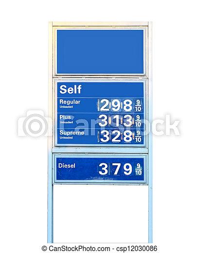 lägst, då, gammal, ridit ut, just, mindre, dollars, visande, gas, tre, per, underteckna, ström, priser, jul., gallon, pris, virginia, för - csp12030086