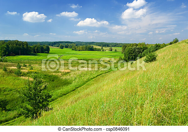 ländlich, landschaft. - csp0846091