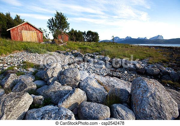 ländlich, norwegen, landschaftsbild - csp2542478