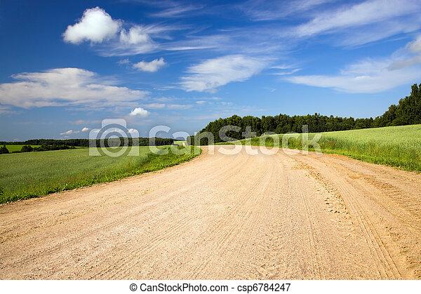 ländliche straße - csp6784247