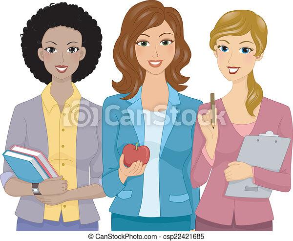 lärare, kvinnlig - csp22421685