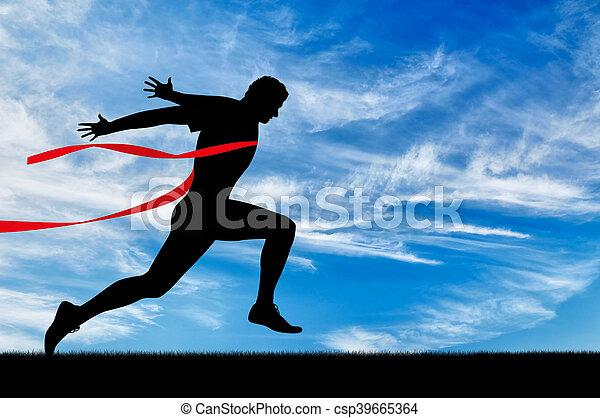 Sport treiben. Mann Läufer - csp39665364