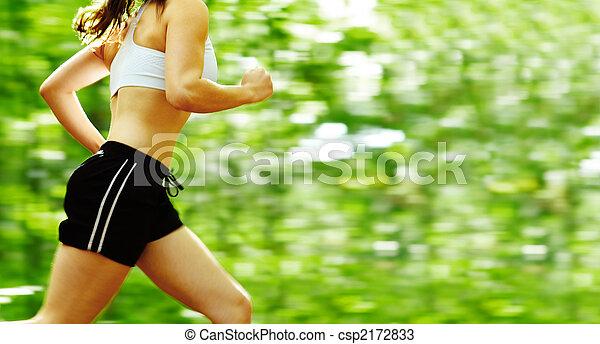 läufer, wald - csp2172833