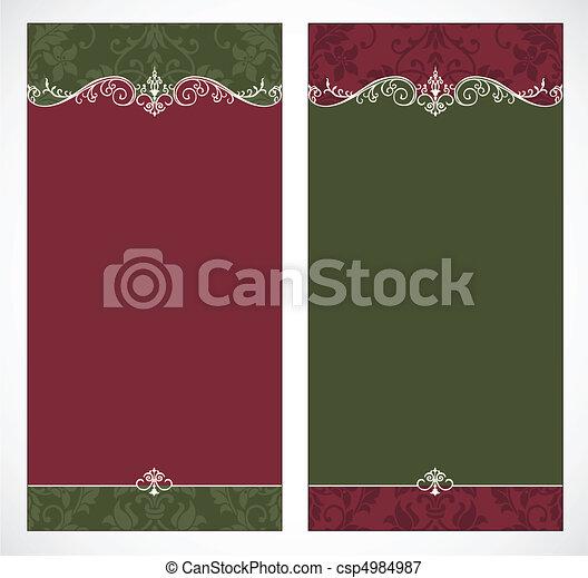 lång, vektor, bakgrunder, jul - csp4984987