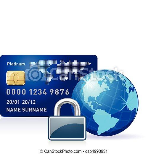 lås, internet bankvæsen - csp4993931