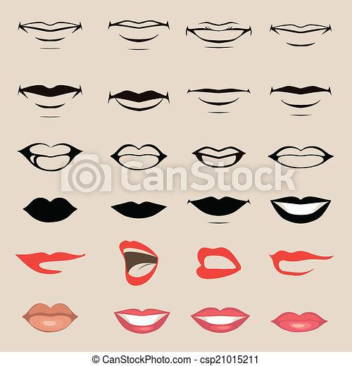 lèvres, bouche - csp21015211