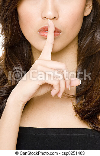 lèvres, doigt - csp0251403