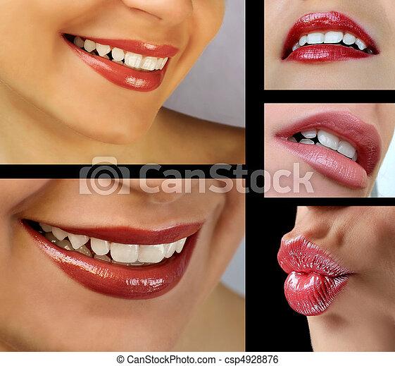 lèvres, ensemble - csp4928876