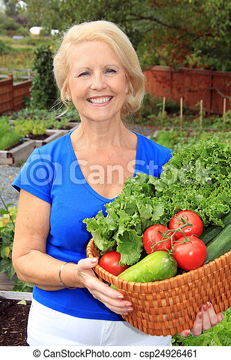 légume, dame, jardinier - csp24926461