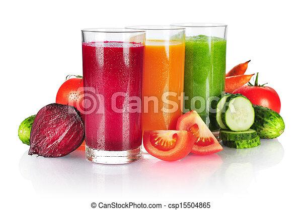 légume, frais, smoothie - csp15504865