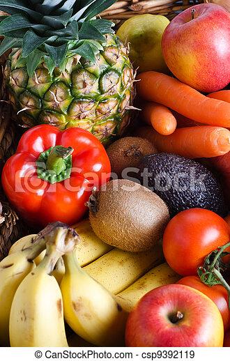 légume, fruit, sélection - csp9392119