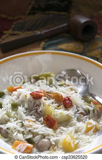 légume, riz, minestrone, basmati - csp33625520